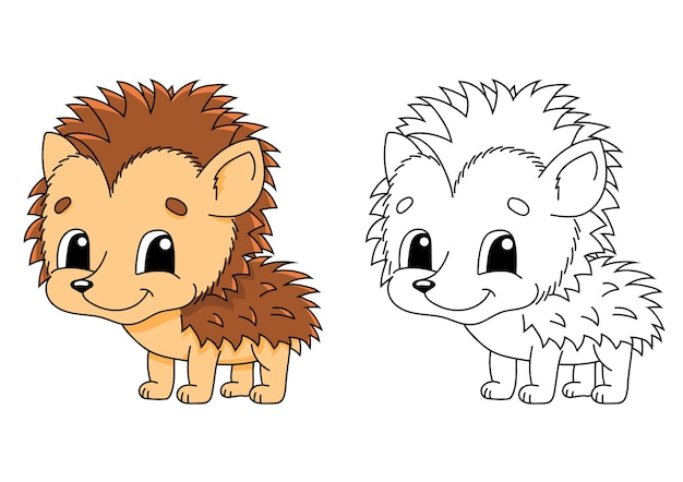 Coloring page for kids illustration