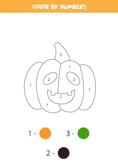 Coloring page with cute cartoon halloween pumpkin.