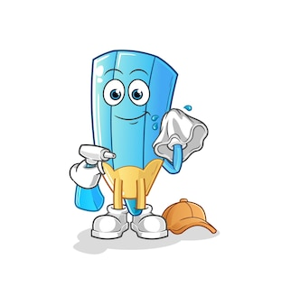 The coloring pencil cleaner . cartoon character