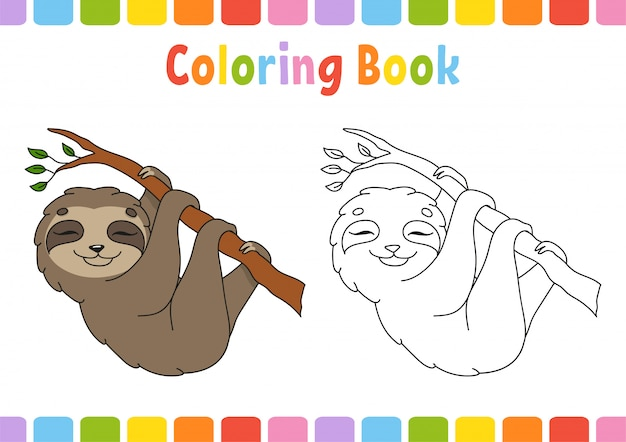 Coloring slowpoke for kids.