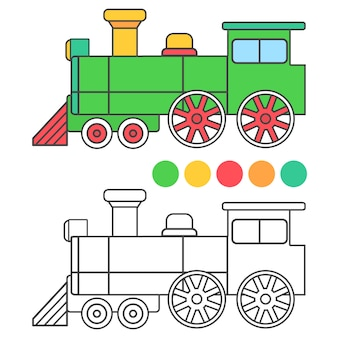 Coloring train for children