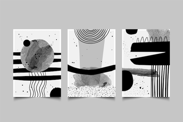 Colorless abstract cover pack