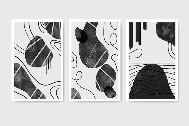무색 추상 수채화 커버 컬렉션