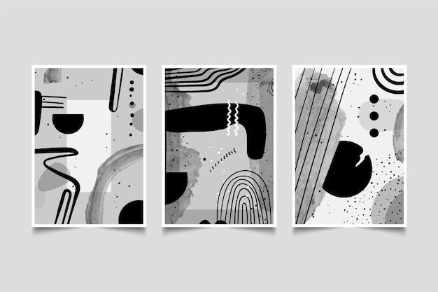 無色の抽象的な水彩カバーコレクション