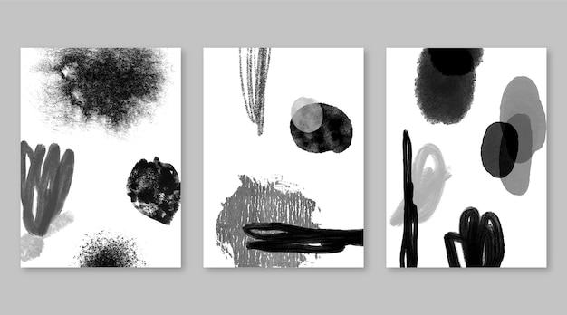 Коллекция бесцветных абстрактных акварельных обложек