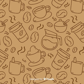 Colorless coffee background