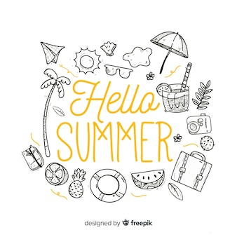 Colorless elements hello summer background