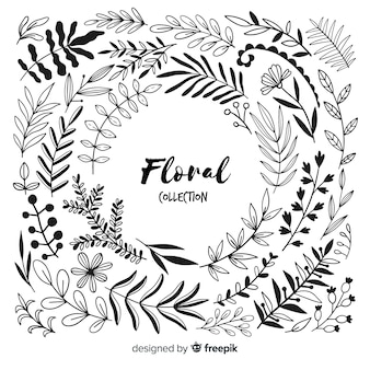 Colorless floral decoration elements
