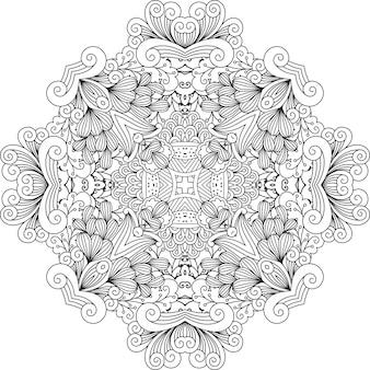 幾何学的な要素を持つ無色の花柄