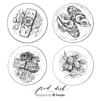 Коллекция бесцветных блюд