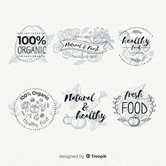 Set di etichette per alimenti biologici incolore