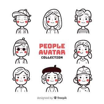 Colorless people avatar pack