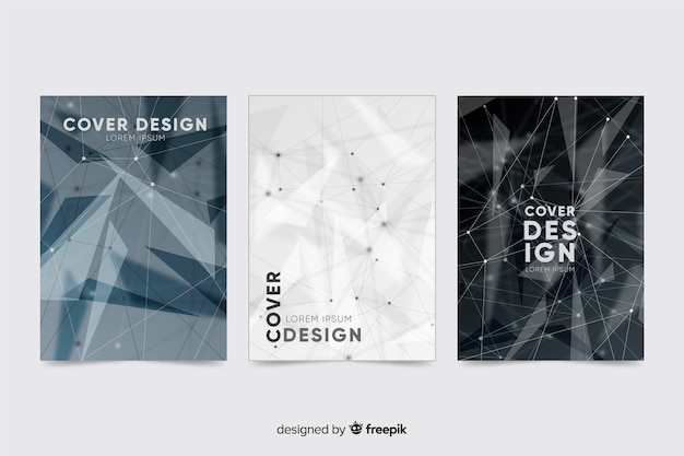Colorless technology brochure template collection
