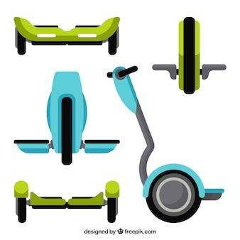 Колорадное разнообразие электрических скутеров Бесплатные векторы