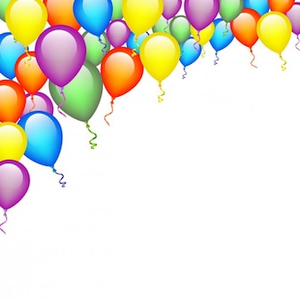 Colors balloons background