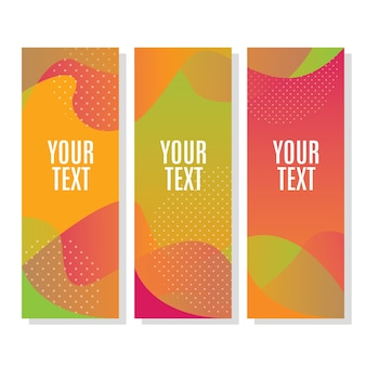 Colors organic shapes banner
