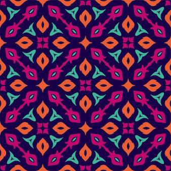色パターン飾り背景。印刷の準備ができているエスニックシームレス