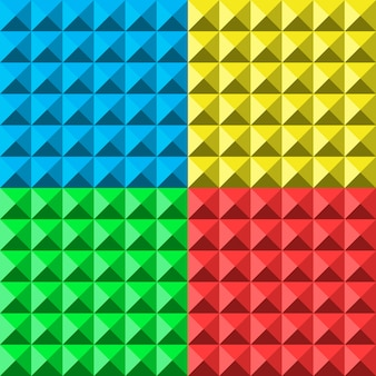 Colors pyramid seamless pattern