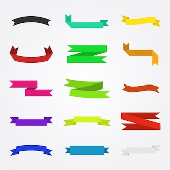 Colors ribbons set