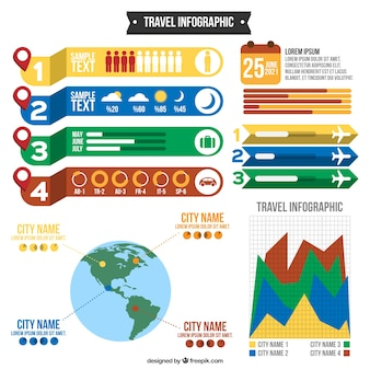 Colors travel infography