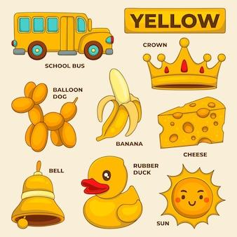 Colori e vocabolario impostati in inglese
