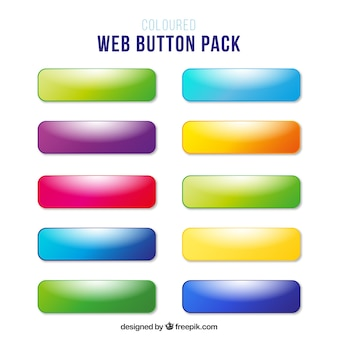 Colors web buttons without text