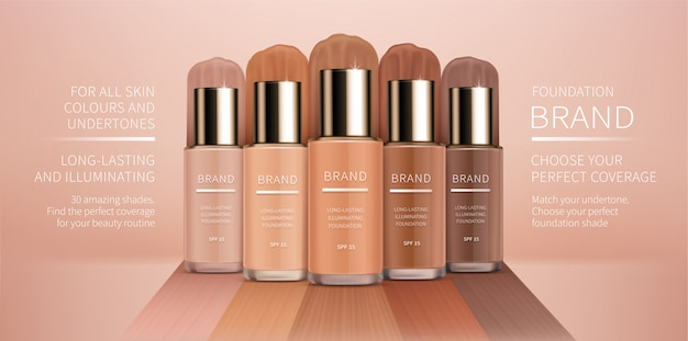 Colorstay foundation of various shades
