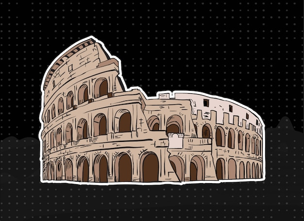 Colosseum of rome illustration