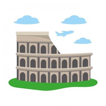 Colosseum structure icon