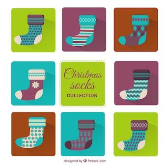 Colour christmas socks collection