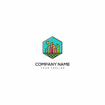 Colour full bulding logo
