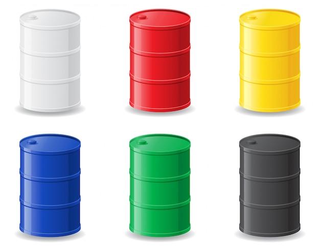 Colour metallic barrels