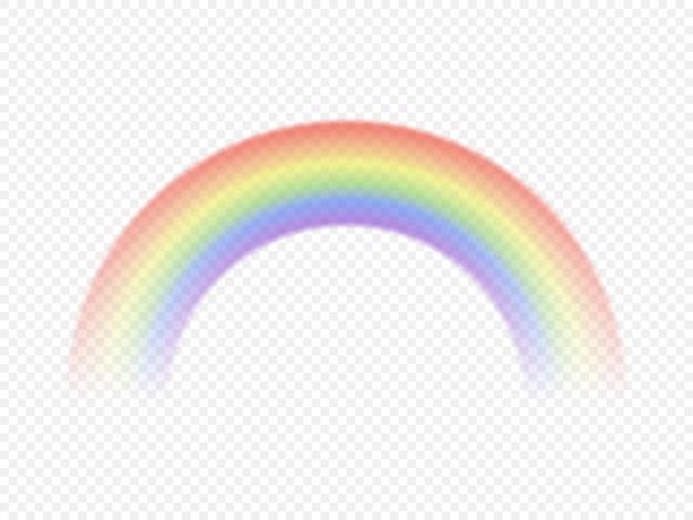 Цветная радуга, изолированные на прозрачном фоне. векторная иллюстрация.