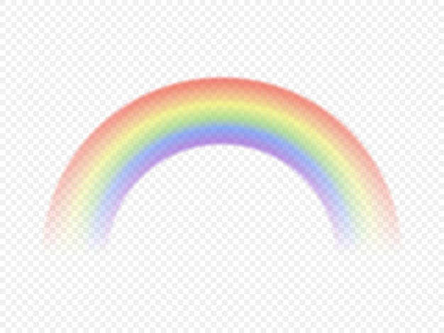 Colour rainbow isolated on transparent background. vector illustration.