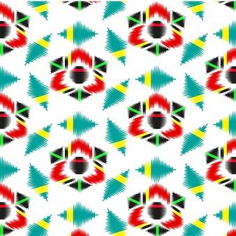 Цветной абстрактный узор текстильной