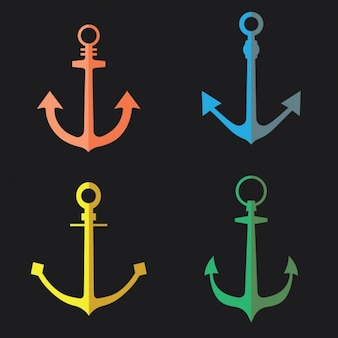 Coloured anchors collection