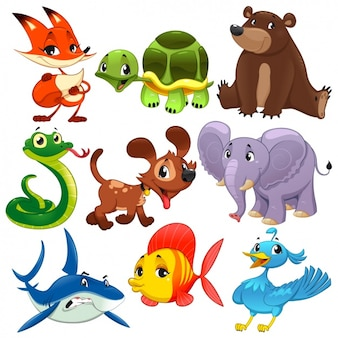 Coloured animals collection