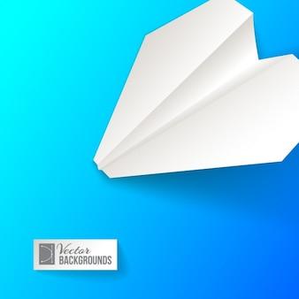 紙飛行機と色とりどりの背景