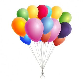 Coloured balloons background