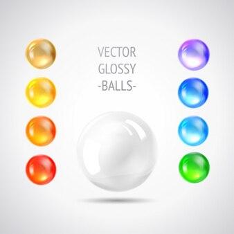 Coloured balls collection