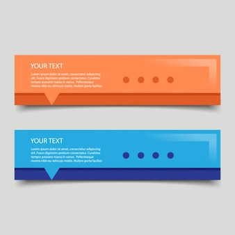 Coloured banners for web