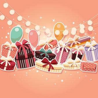 착 색 된 생일 배경