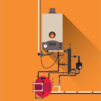 Coloured boiler design