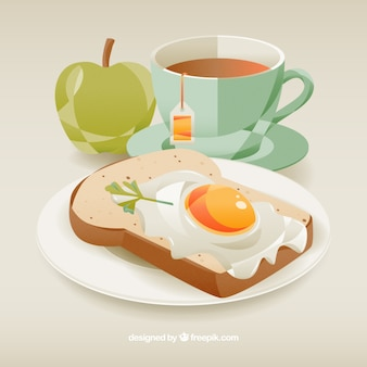 Coloured breakfast design