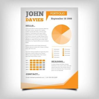 Coloured brochure design