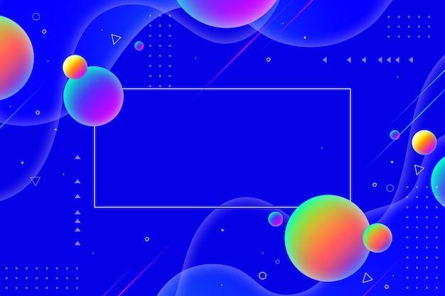 Bolle colorate e linee ondulate sullo sfondo