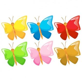 Коллекция бабочек цветной