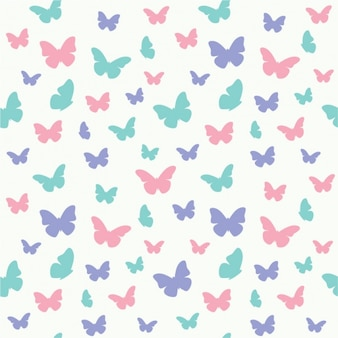 Coloured butterflies pattern design
