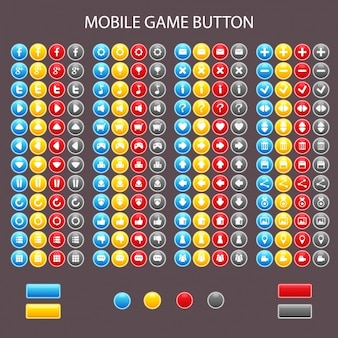 Coloured buttons collection