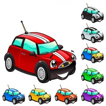 Collezione di automobili colorate
